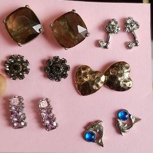 6 pairs post earrings